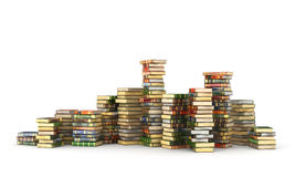 Render of big pile of colorful books Royalty Free Stock Images