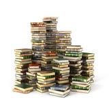 Render of big pile of colorful books Royalty Free Stock Photography