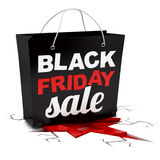 Render of a Black Friday shopping bag Royalty Free Stock Images