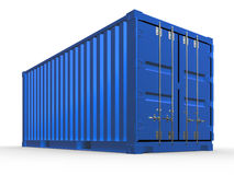 Render of blue container isolated. 3d illustration of blue container isolated Stock Images