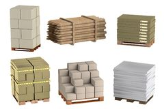 Render of building materials Royalty Free Stock Image
