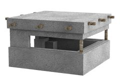 Render of bunker. Realistic 3d render of bunker Stock Photography