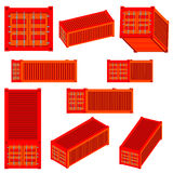Render cargo container Stock Photo