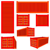 Render cargo container Royalty Free Stock Photos
