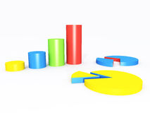 Render of chart elements Royalty Free Stock Images