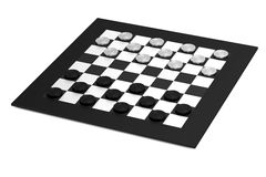 Render of checkers Stock Photography
