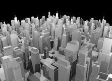 Render city design Royalty Free Stock Photography