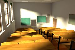 Render of classroom Royalty Free Stock Images
