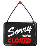 Render of a closed sign Royalty Free Stock Photo