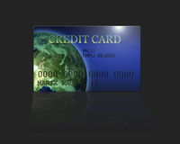 Render of credit card Royalty Free Stock Images