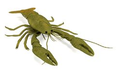 Render of crustacean - crayfish Royalty Free Stock Photos