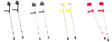 Render of crutches Royalty Free Stock Photography
