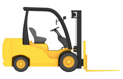 Render 3d of forklift truck in front projection Stock Image
