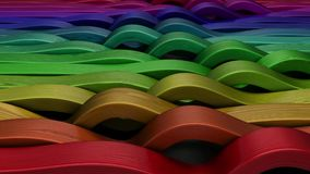 3D Geometric Abstract Background stock footage