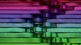 3D Geometric Abstract Background stock video footage