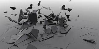 3D Shatter Abstract Wallpaper Background Stock Images