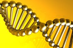 Render of DNA Royalty Free Stock Images