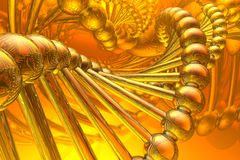 Render of DNA royalty free illustration