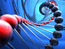 Render of DNA. Abstract 3d illustration Stock Images