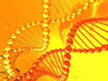 Render of DNA Royalty Free Stock Photos