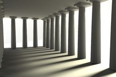 Render of doric temple Royalty Free Stock Photo