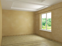 Render empty interior Stock Photography