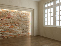 Render empty interior Stock Images