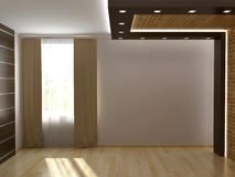 Render empty interior. 3D render empty interior room Royalty Free Stock Photography