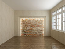 Render empty interior Royalty Free Stock Photography