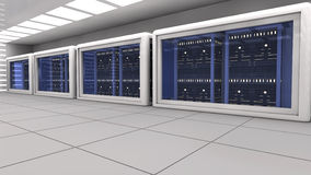 Render farm Stock Image
