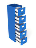 Render of file drawer isolated on white background. Storage conc Stock Photo