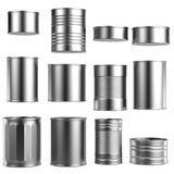 Render of food cans Royalty Free Stock Images