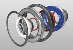Render gasket set. Render set of different seals Stock Image