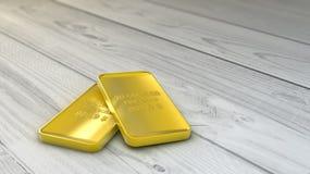 Render gold ounces Stock Photo