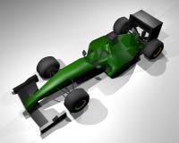 Render green car Royalty Free Stock Image