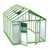 Render of greenhouse. Realistic 3d render of greenhouse Stock Photo