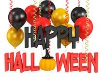 Render of a halloween pumpkin Stock Photography