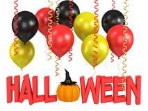 Render of a halloween pumpkin Royalty Free Stock Photos