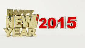 Render of Happy new year 2015.  Royalty Free Stock Photo