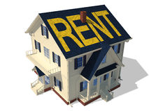 Render home exterior(Rent) Stock Photos