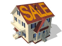 Render home exterior(Sale) Stock Photos