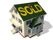 Render home exterior(Sold) Stock Photography