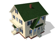 Render home exterior Stock Image