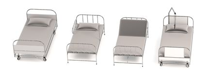 Render of hospital beds Royalty Free Stock Image