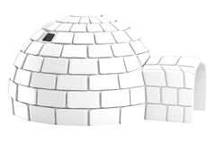 Render of igloo Stock Image
