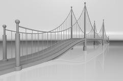 Render illustration architecture bridge. Render 3d illustration architecture bridge Stock Images