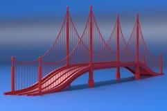 Render illustration architecture bridge. Render 3d illustration architecture bridge Stock Photography