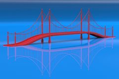 Render illustration architecture bridge. Render 3d illustration architecture bridge Stock Photos
