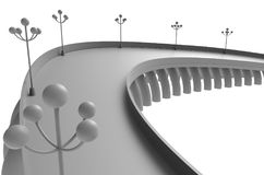 Render illustration architecture bridge. Render 3d illustration architecture bridge Stock Image