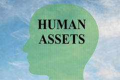 HUMAN ASSETS concept Stock Image